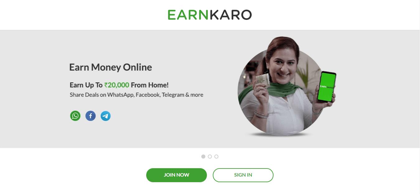 earnkaro flipkart affiliate program